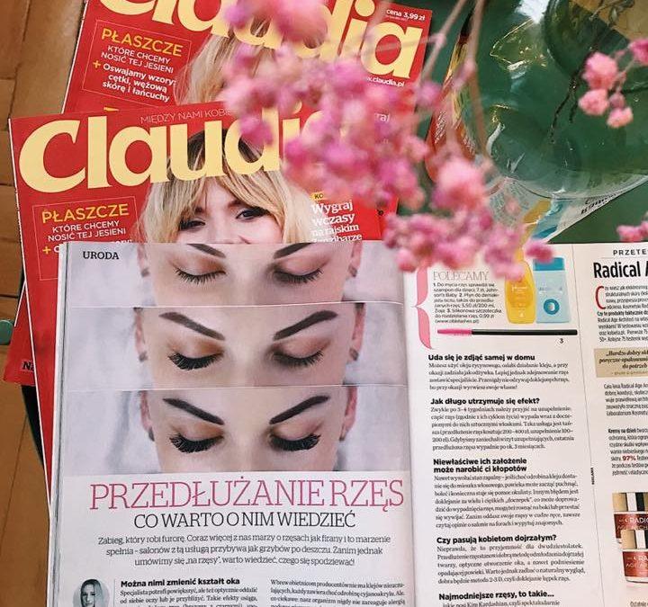 Anna Jarniewska z Lash Design w czasopiśmie Claudia