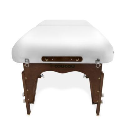 Drewniane łóżko PREMIUM - stylizacja rzęs, makijaż