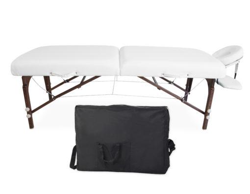 Łóżko premium białe - drewniane