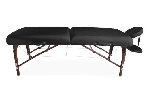Łóżko premium czarne - drewniane