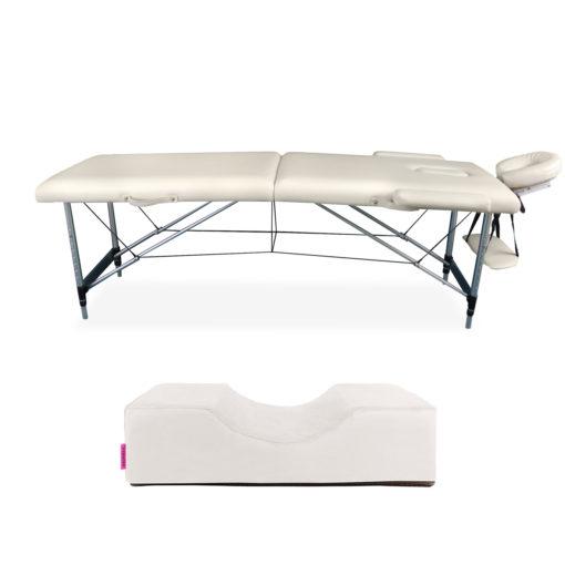 Zestaw łóżko aluminiowe plus poduszka