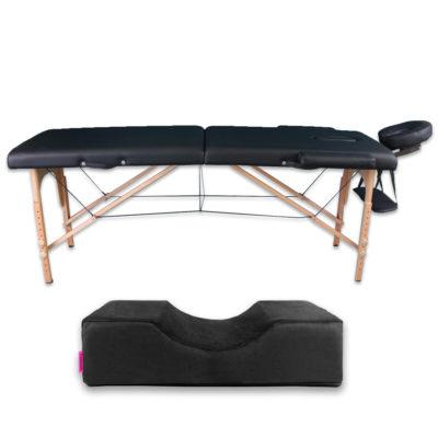 Zestaw łóżko drewniane plus poduszka