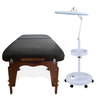 Zestaw łóżko plus lampa kosmetyczna